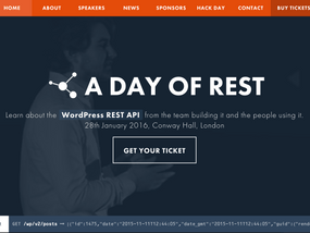The Day of Rest site has gone all REST API