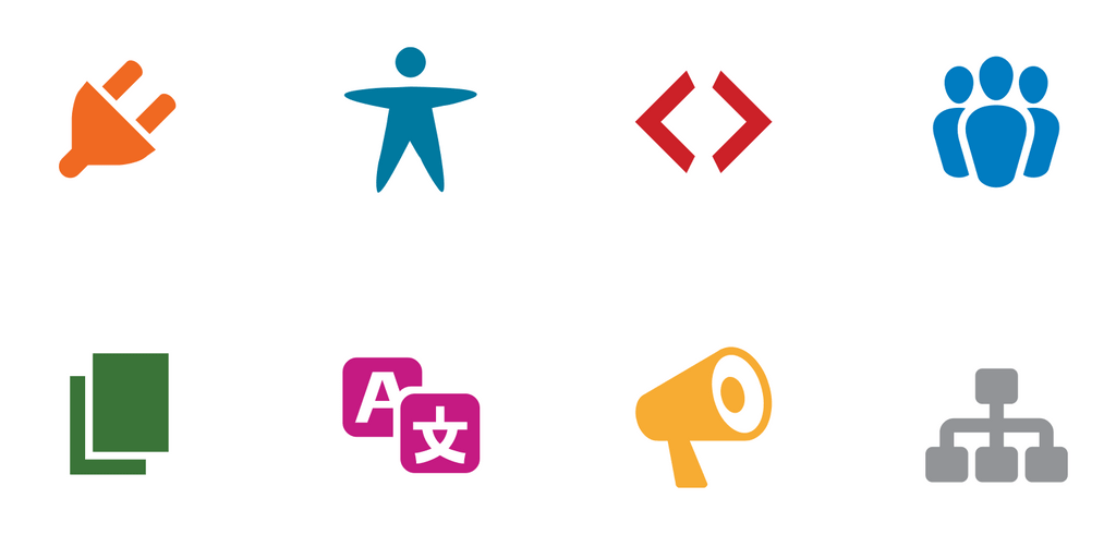 wordpress contributing team icons