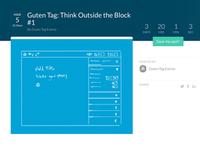 Join us and friends for Guten Tag: 'Think Outside the Block' March 5th