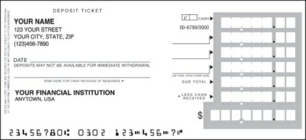 Decisive image for deposit slips printable