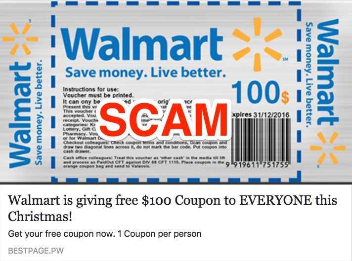walmart coupon scam?resize=712%2C452 free $100 or $1,000 walmart gift card scam