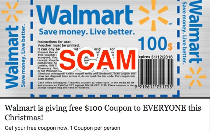Free 100 or 1000 walmart gift card scam walmart is not distributing free gift cards to users who click an online link its a form of scam negle Images