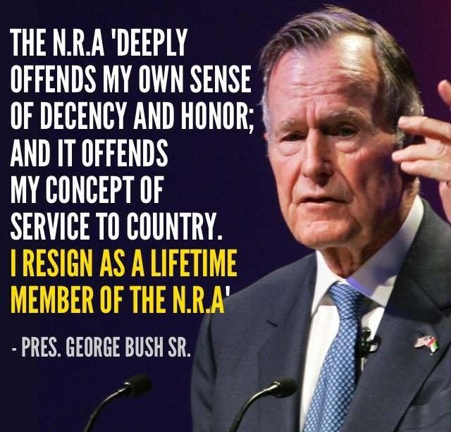bushnra1 fact check did george h w bush resign from the nra?