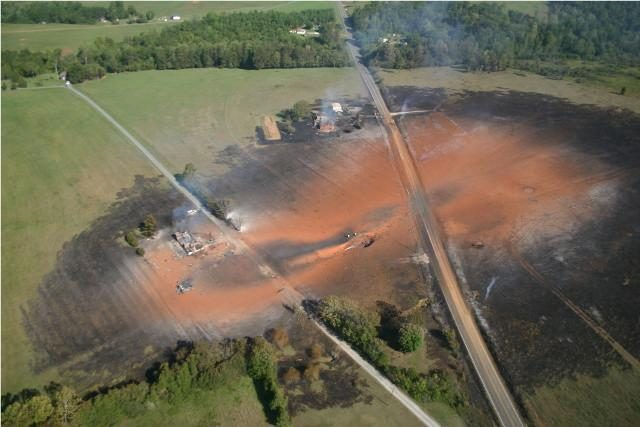 Photographs allegedly show a gas pipeline rupture and explosion caused by a neglectful backhoe operator. & FACT CHECK: Call Before You Dig! u2014 Gas Main Explosion