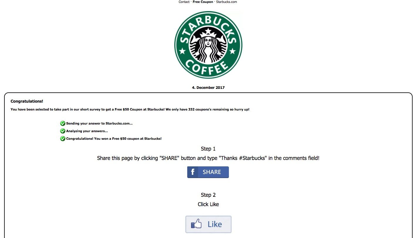 FACT CHECK: Free Starbucks Gift Card Scam