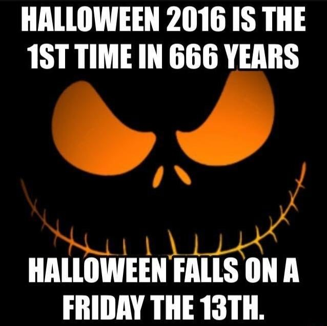 Halloween Falls on Friday the 13th for the First Time in 666 Years?