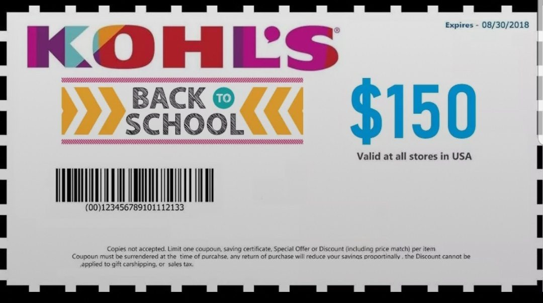 Kohl's '$150 Back-to-School' Coupon Scam