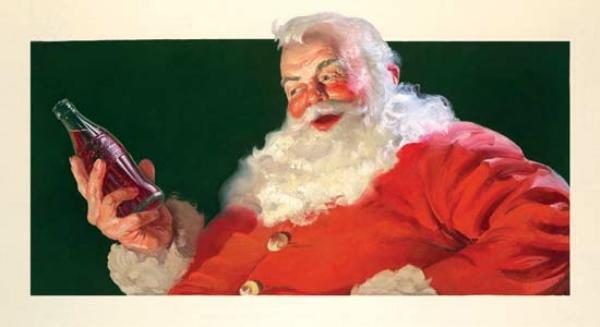 the image of santa claus as a jolly large man in a red and white suit was the standard long before coca cola co opted it for their advertising - Santa Claus Red