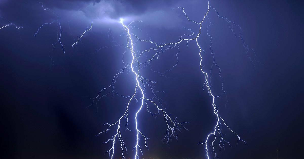 Questionable video clip purportedly shows a man being struck by lightning two times in quick succession. & FACT CHECK: Man Struck by Lightning Twice?