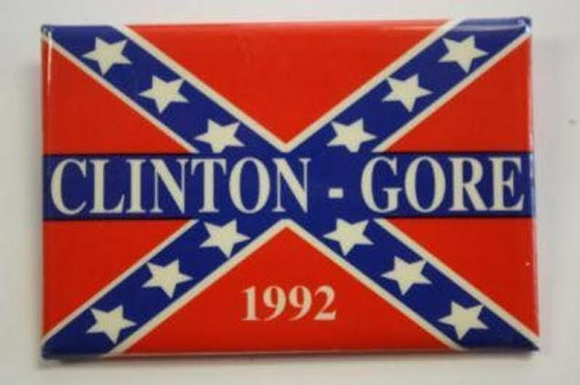 Image result for clinton gore confederate flag