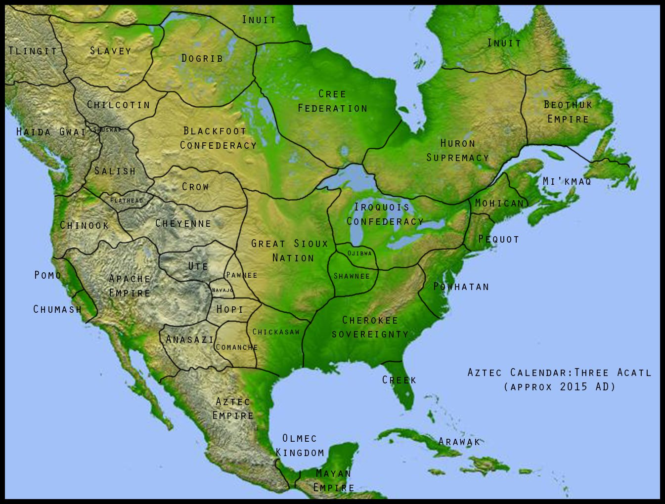 Imaginary Borders - Us navy map of future america hoax