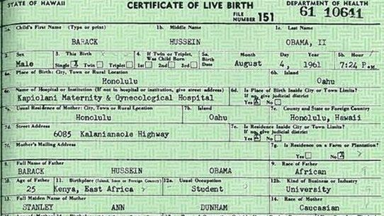 FALSE: Hawaii Official Says No Birth Certificate for President Obama