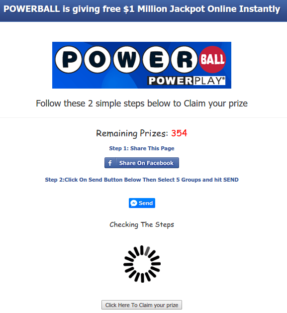 snopes facebook giveaway scam powerball mega million facebook 1 million giveaway 3546
