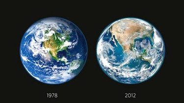 FALSE NASA Deforestation Images - Satellite view of earth today