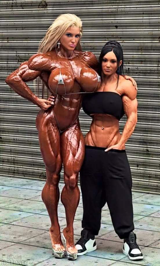 Sex with a female bodybuilder