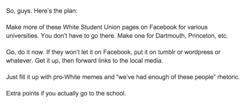 daily stormer white student union