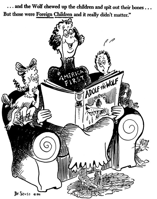 fact check did a dr seuss wwii political cartoon criticize america 39 s isolationism. Black Bedroom Furniture Sets. Home Design Ideas