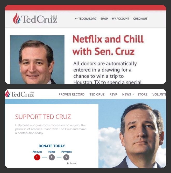 ted cruz netflix and chill
