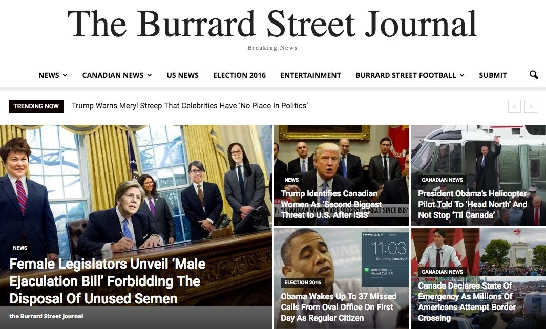 burrard street journal real or satire