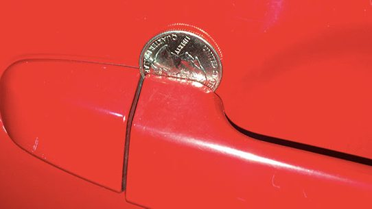 car door handle. There Has Been No Rash Of Car Or Property Thefts Due To Nickels Pennies  Jammed In Door Handles, And Experts Say That Warnings About Them Are Handle