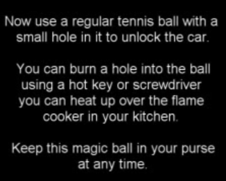 Can A Tennis Ball Unlock A Car