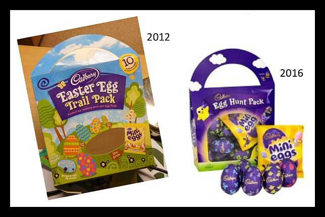Did cadbury candies eliminate the word easter although the pictured cadbury egg hunt pack does not prominently display the word easter on the front of its packaging cadbury clearly hasnt banned negle