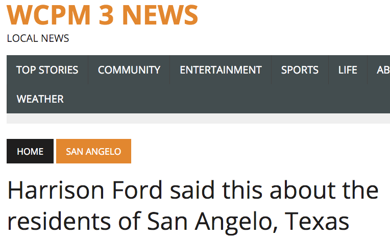 Harrison_Ford_said_this_about_the_residents_of_San_Angelo__Texas_–_WCPM_3_News