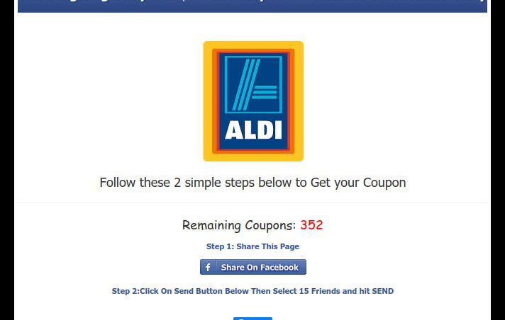 Aldi coupon $100 off $120 purchase