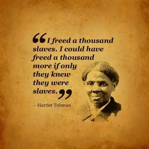Famous Qoute Alluring Harriet Tubman 'i Freed A Thousand Slaves'