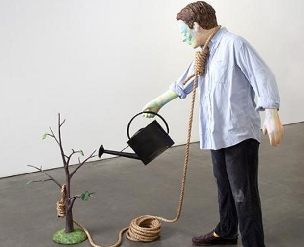 Image result for painting showing man with noose watering a tree