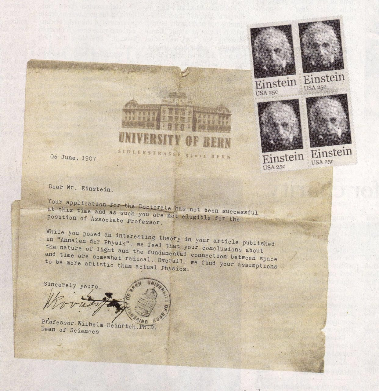 Fact Check Albert Einstein Rejection Letter