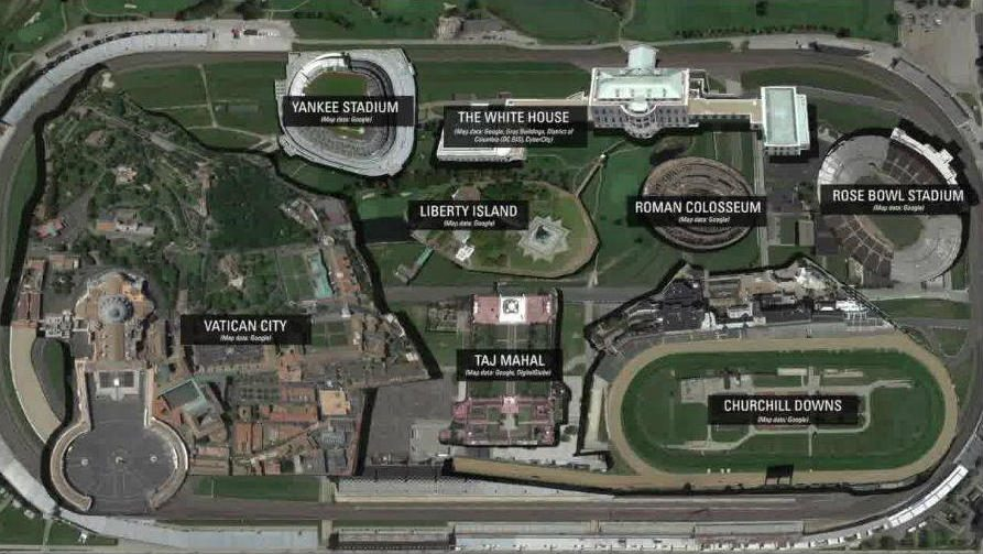 Indianapolis motor speedway track map for The indianapolis motor speedway