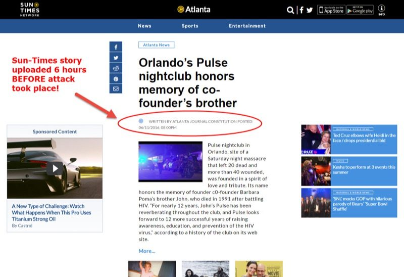 orlando shooting false flag