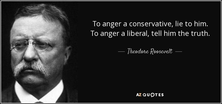 Theodore Roosevelt Quotes Magnificent Teddy Roosevelt On Conservatives Vsliberals