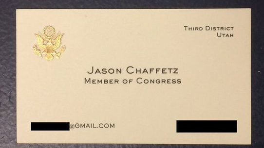 Rep jason chaffetzs business card surfaces during comey hearing two days after federal bureau of investigation fbi director james comey announced the bureau was not recommending charges against hillary clinton for her colourmoves