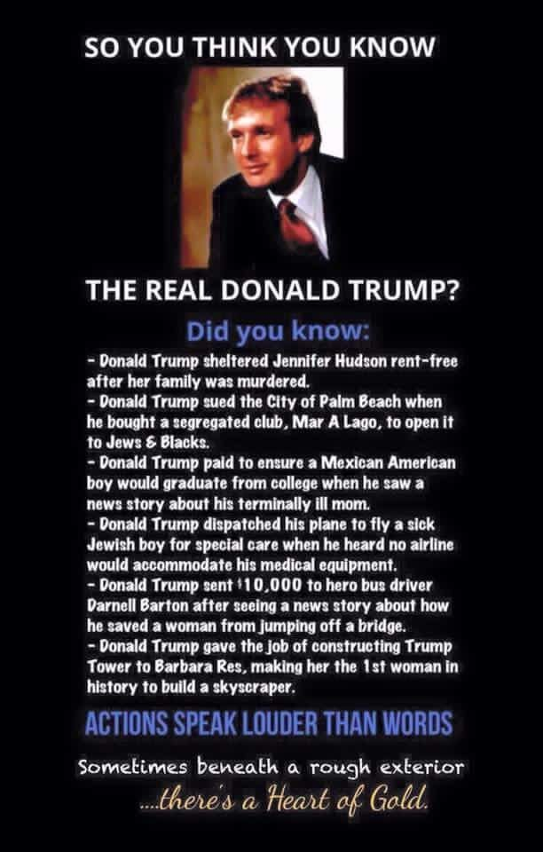 Fact check so you think you know the real donald trump for Tough exterior quotes