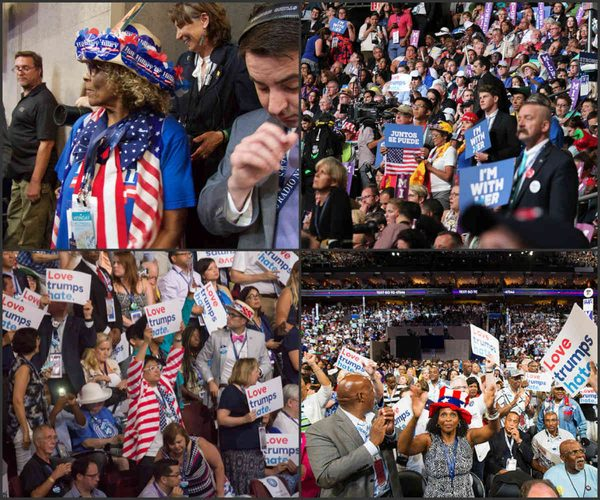 flags at DNC