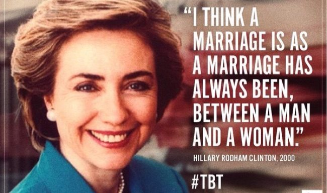 Hillary on same sex marriage