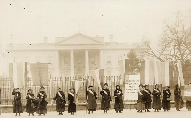 National Women's Party picketin White House