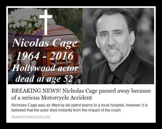 nic cage motorcycle accident