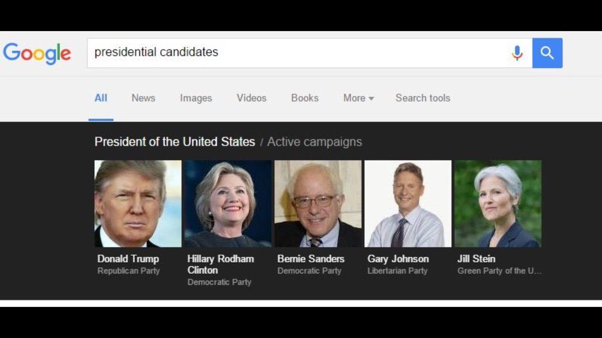 Donald Trump Absent from 'Presidential Candidates' Google ...