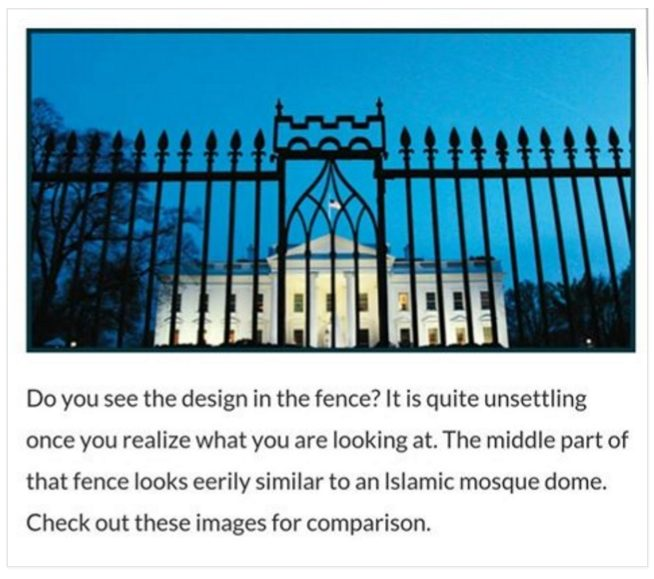 Fact Check Islamic Symbols Added To White House Fence