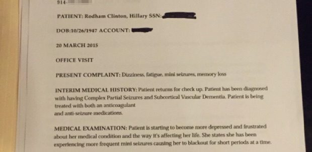 FACT CHECK Hillary Clinton Medical Records Leaked - Invoice for medical records template online wig store