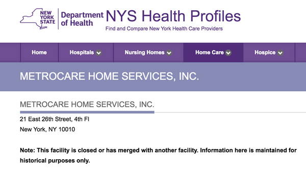 metrocare listing new york city