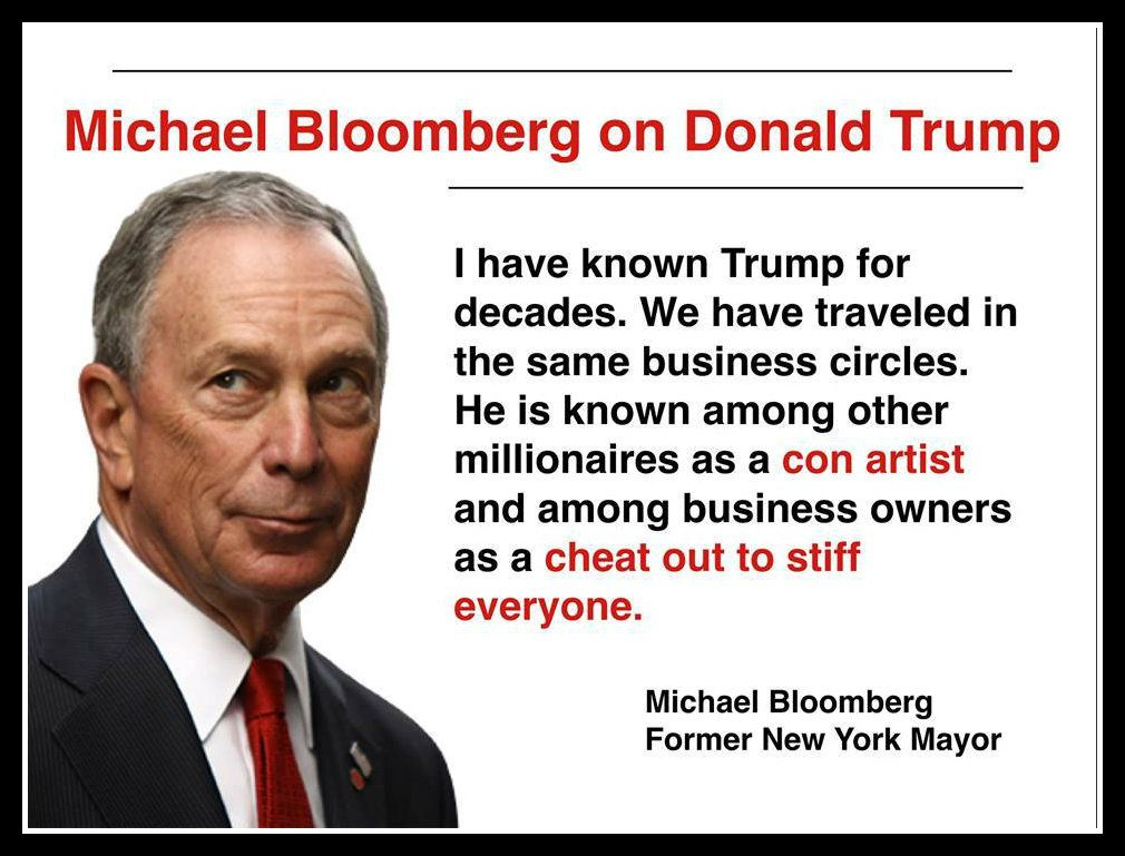 Image result for Bloomberg On Trump