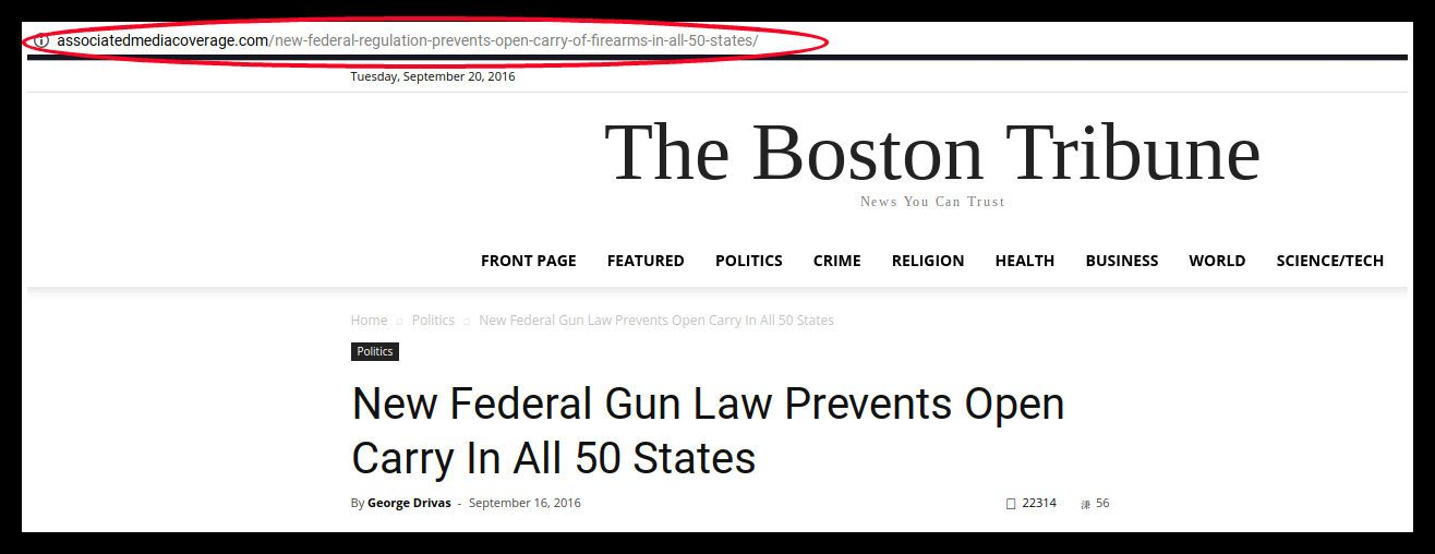 FACT CHECK: New Federal Gun Law Prevents Open Carry in All 50 States