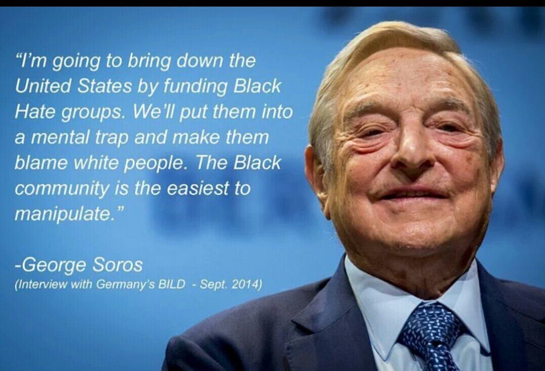 Famous African American Quotes George Soros Said 'i'm Going To Bring Down The U.s.funding
