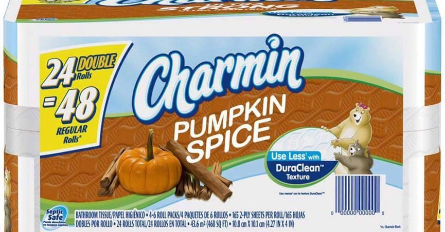 The Charmin Brand Has Not Released A Festive Pumpkin Spice Variety Of Bathroom Tissue For Upcoming Fall Season