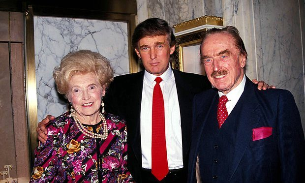 Donald Trump, with his father Fred and mother Mary in 1992.