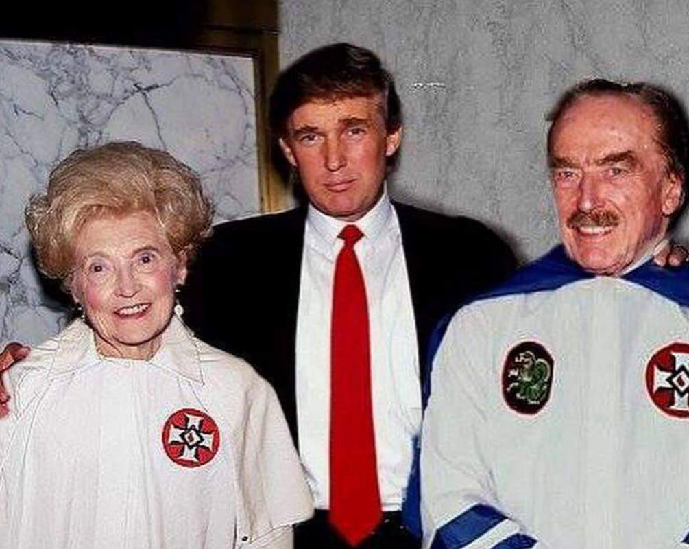 Fact check donald trumps parents wore ku klux klan attire a photograph purportedly showing republican presidential nominee donald trump standing with his parents after they have donned ku klux klan robes added to biocorpaavc Images